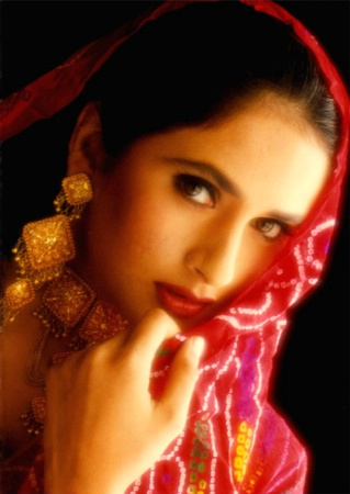 RADHA IN RED