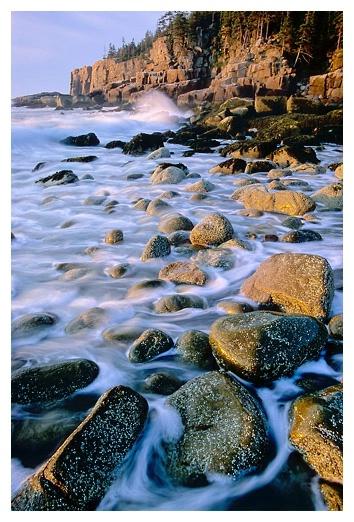 Breaking Surf at Otter Cliffs