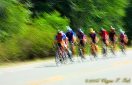 Biker's Blur at Finish line