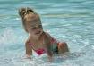 Klara in the pool