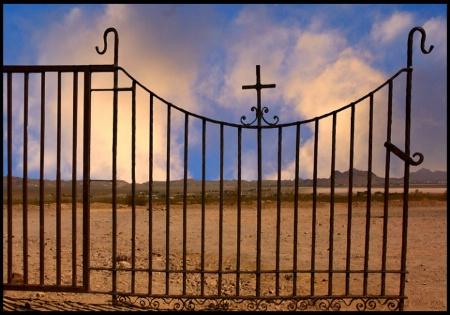 Calico Cemetary Gate