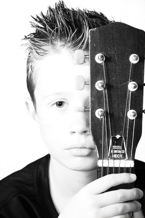 Young musician...