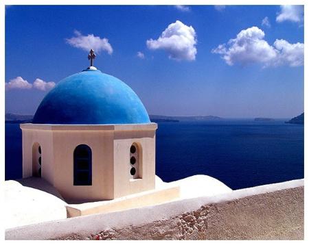 Blue Dome And Sea