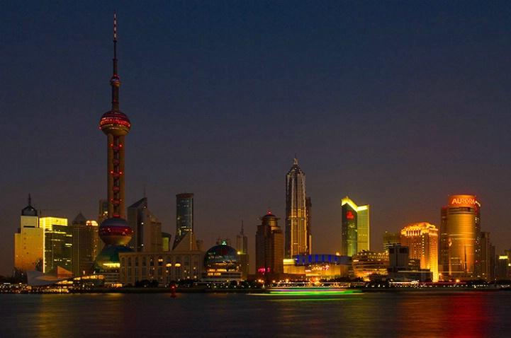 Shanghai at Dusk - ID: 3516141 © Jeff Lovinger