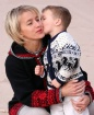 Kissing Mommy