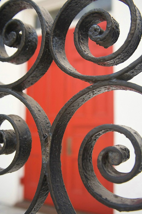 Wrought iron & red - ID: 4053789 © Dreaming Tree Galleries
