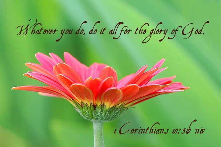 1 Corinthians 10:31b niv - ID: 4195440 © Janine Russell