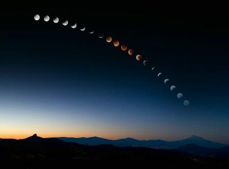 Lunar Eclipse Over Mt. Shasta