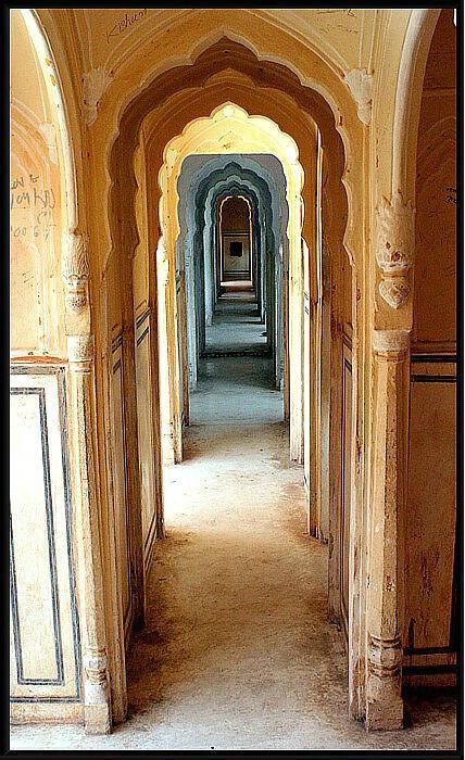 Narrow passage.