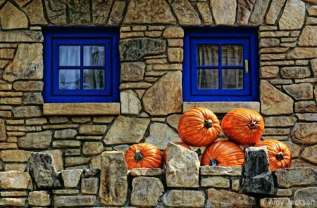 Blue Windows & Pumpkins