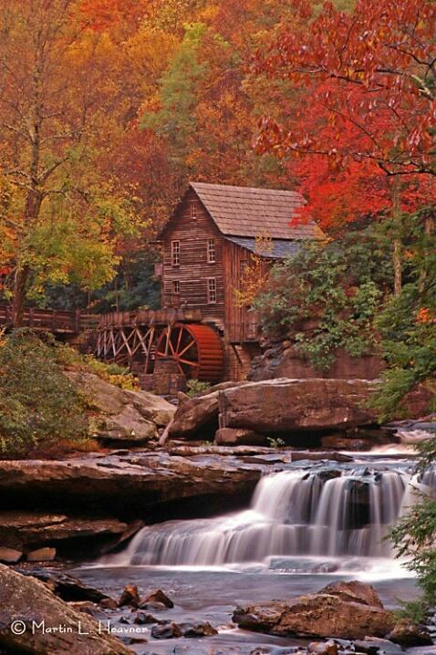 Glade Creek Mill - Autumn, West Virginia - ID: 4766387 © Martin L. Heavner