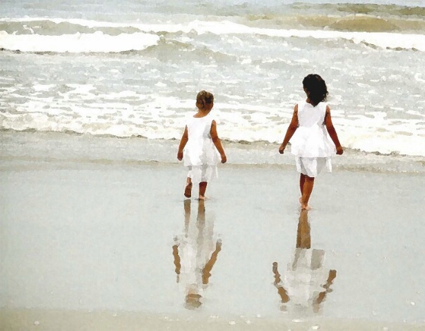 Sisters in the Surf