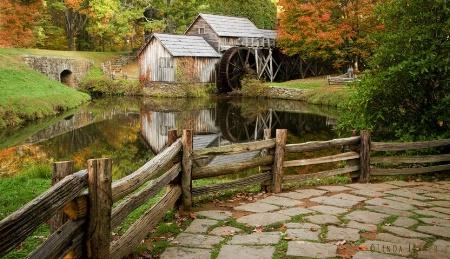 Fall Day at Mabry Mill