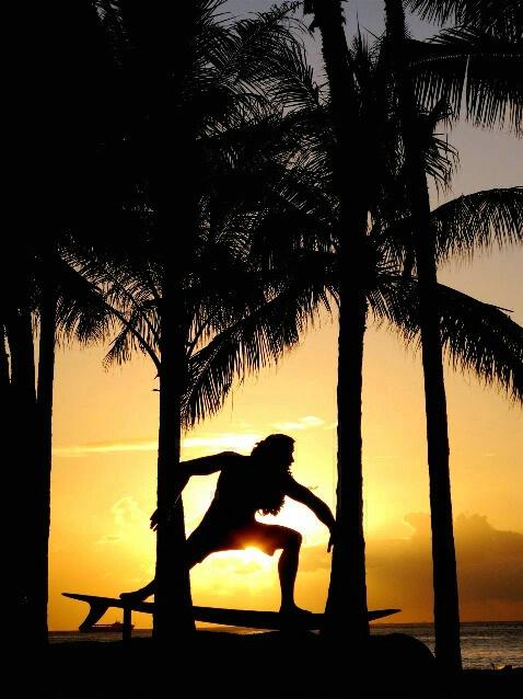 """surfs up"" &  sunset"