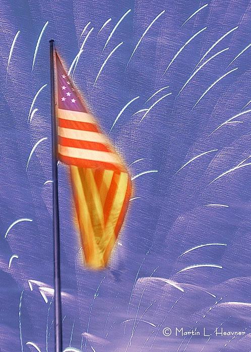 Rockets Glare, July 4, Washington, D.C. Mall - ID: 5389372 © Martin L. Heavner