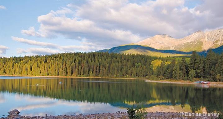 Casting a Line in Beverly Lake, Jasper - ID: 5424243 © Denise Bierley