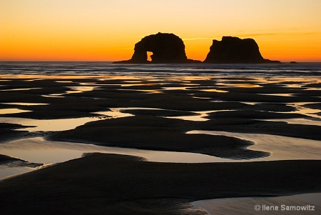 Rockaway Beach Low Tide Sunset