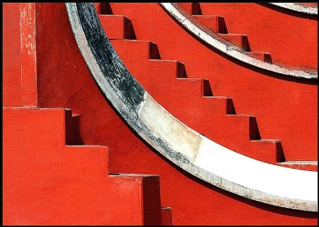Stairs and curves.