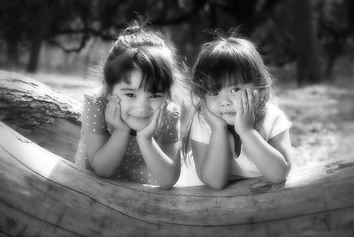 Two delightful little girls...