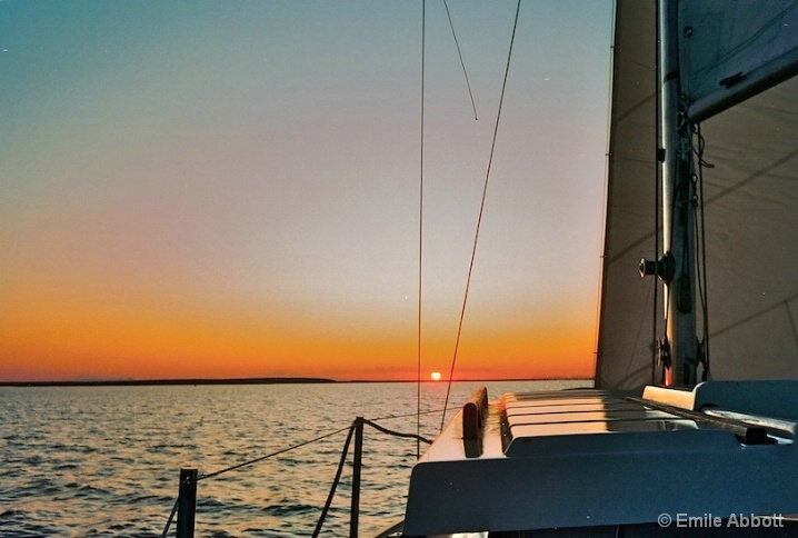 Shades of a Sunset Sail, Lake Amistad - ID: 5897356 © Emile Abbott