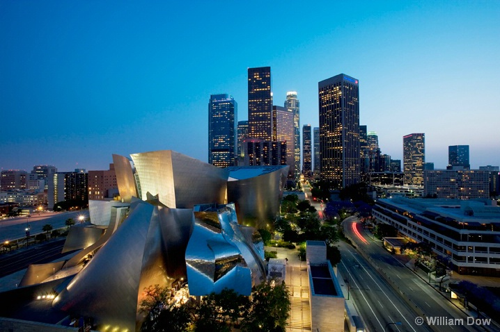 LA Disney  Concert Hall Skyline - ID: 6162010 © William Dow