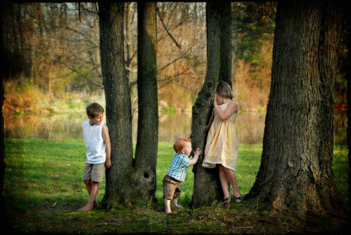 Siblings At Play