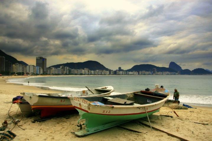 Tropical storm in Copacabana