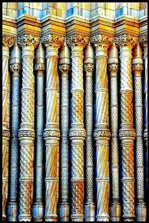 Colourful Pillars.