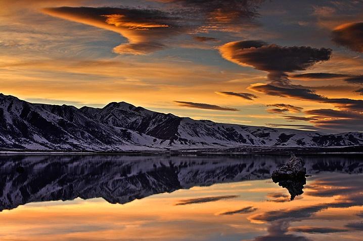 Mono Lake Sunset in Winter