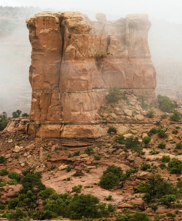 Butte in the Fog - ID: 6511281 © Patricia A. Casey