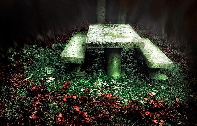 Tombstones in the Park
