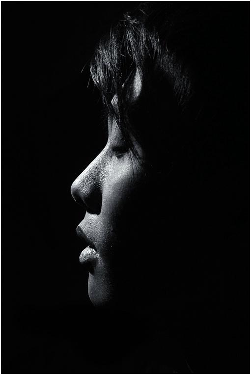 Portrait under a moonlight