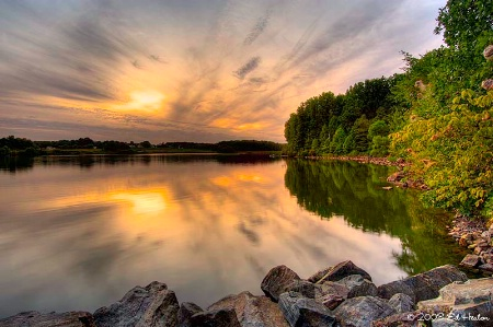Sunset on Chambers Lake - HDR
