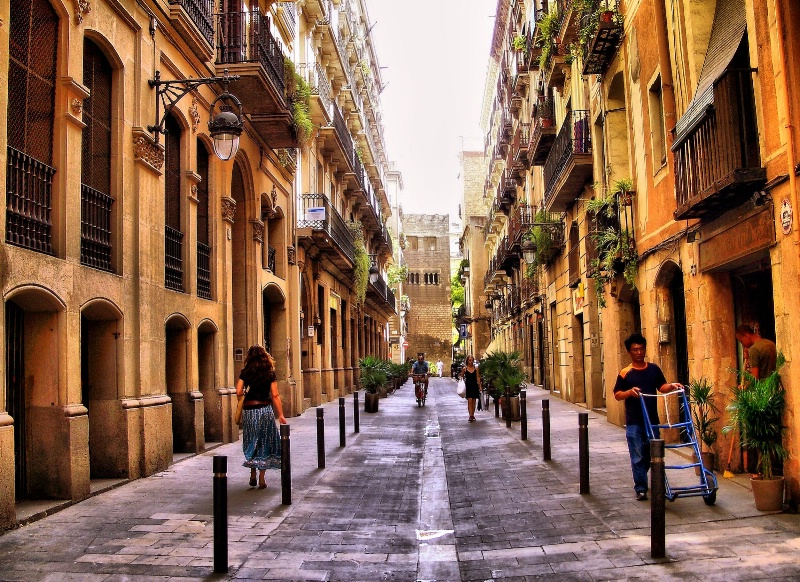 Barcelona in the morning