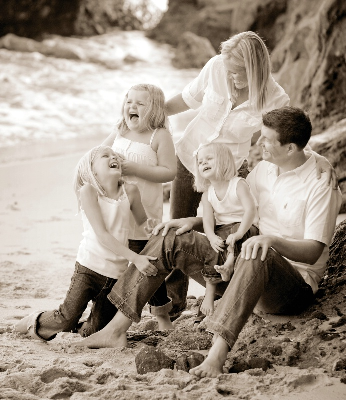 having family fun together at the beach