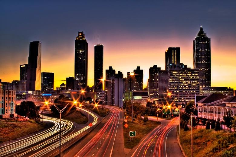 Atlanta's Colorful Skyine