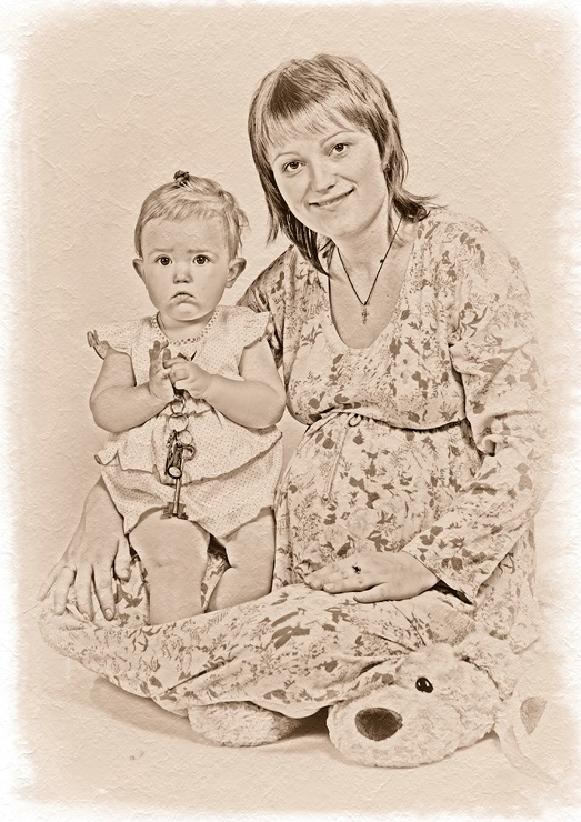 Mum, daughter and...