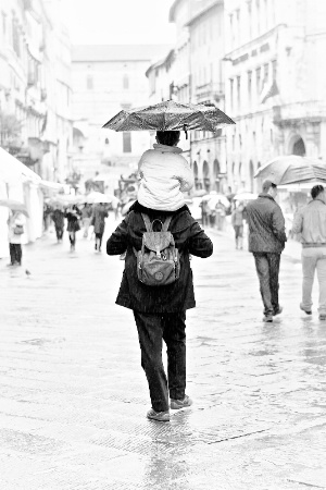 An umbrella for two