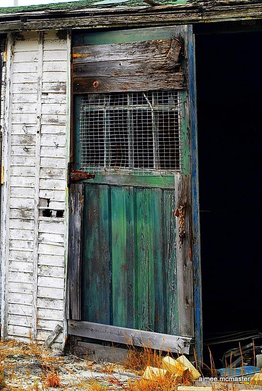 beach shed door