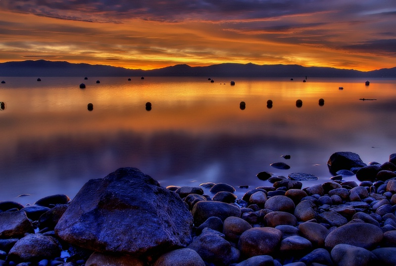First Light on Lake Tahoe