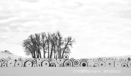 Wagon Wheel Fence - ID: 7731298 © Kathy K. Whitfield