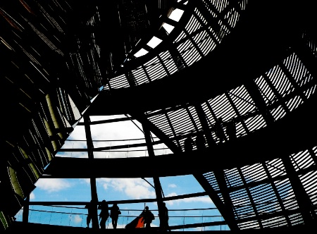 Berlin: in the dome of Reichstag