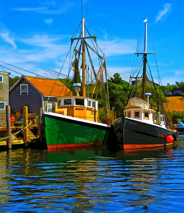 2 Boats.
