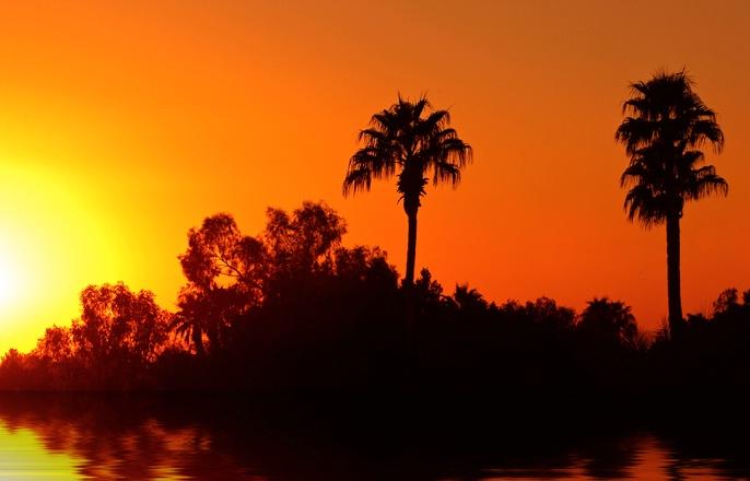 Phoenix Sunset with Water - ID: 7996193 © Don Johnson