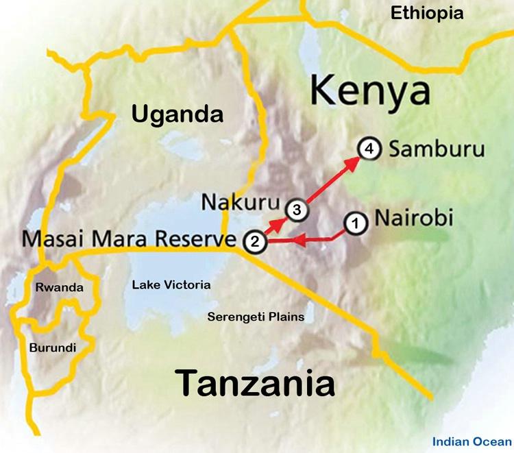 Safari Route Map 1 - ID: 8137512 © Larry J. Citra