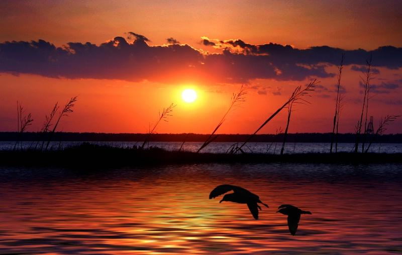 Sunset  Fort  Fisher N.C.