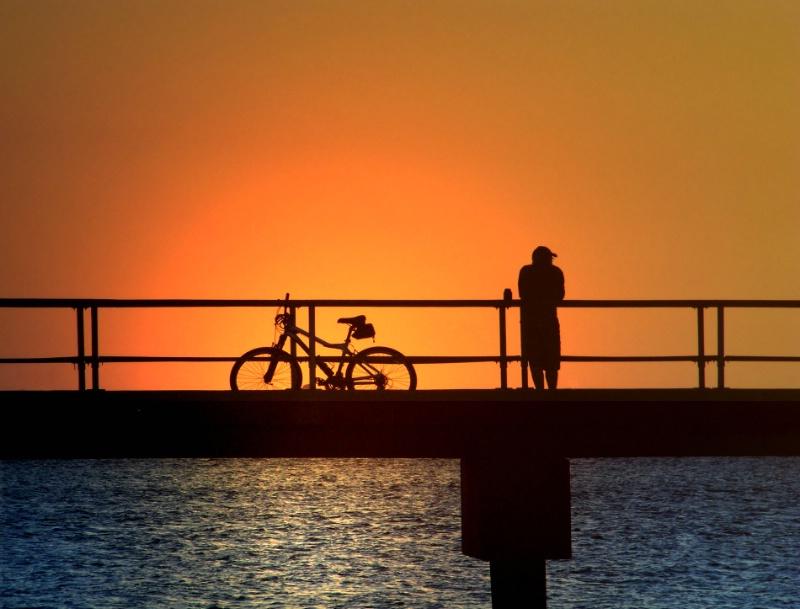Cyclists Sunrise