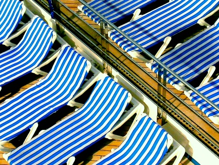 Striped chairs