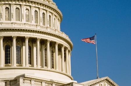 Capital with Flag