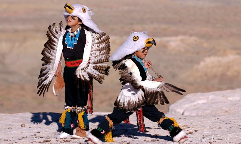Eaglets Playing with Arrow HTM-378 - ID: 8701678 © Lynette M. Tritel